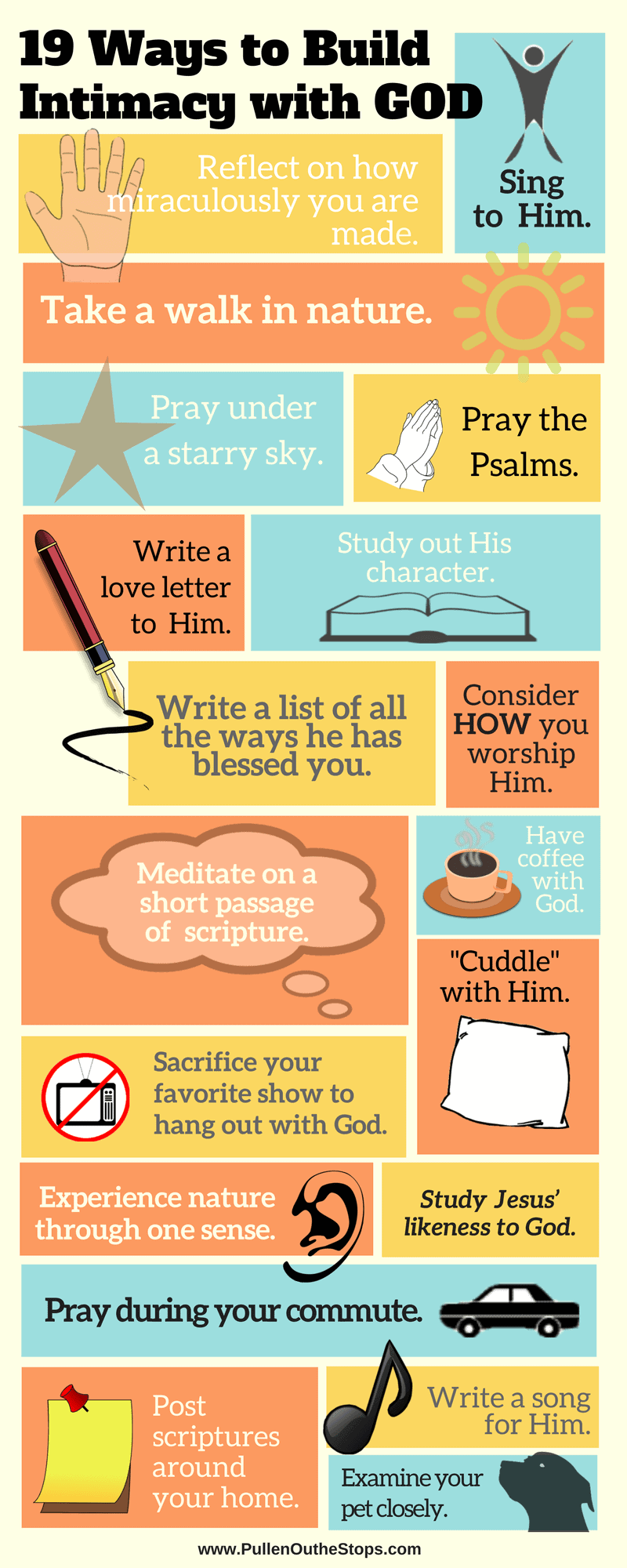 19 Ways with God Infographic