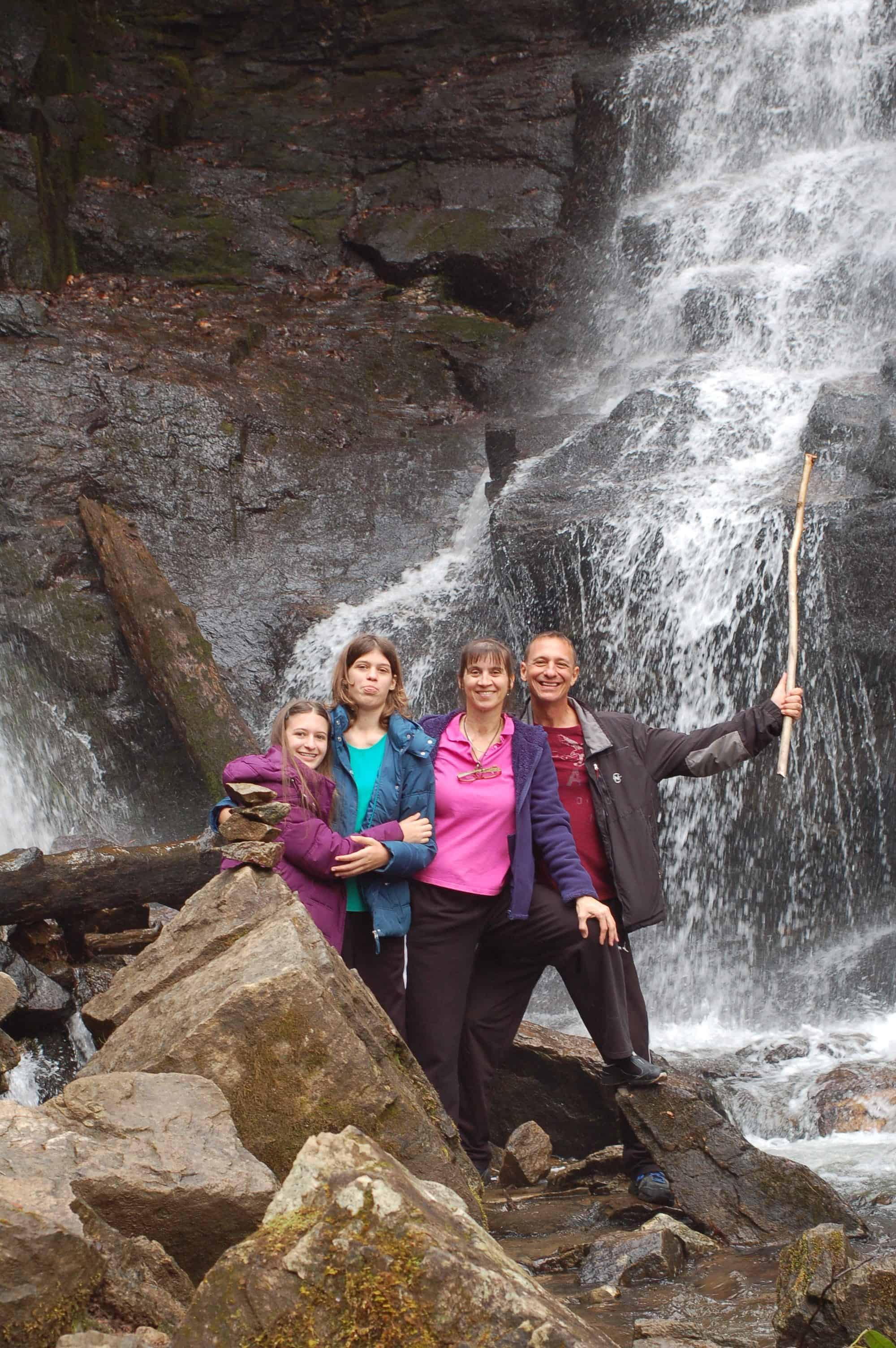 The Family at Soco Falls