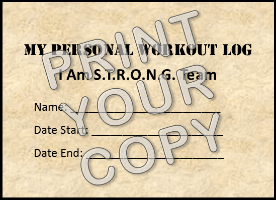 Print PDF of Workout Log